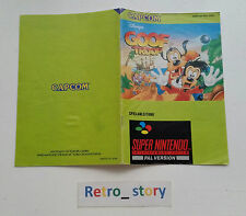 Super Nintendo SNES Goof Troop Notice / Instruction Manual - NOE