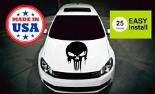 Punisher Xtra Large Decal Hood Window Vinyl Skull Jeep Truck Car 5 Colors