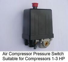 AIR COMPRESSOR PRESSURE SWITCH SINGLE PHASE SUITABLE FOR COMPRESSORS 1 - 3 HP