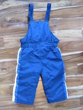 Kid Connection Boys Youth 3T Navy Blue w/Stripe Snow Bibs Pants - Inner Cuffs