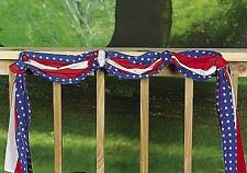 American Flag Style Bunting Patriotic Summer Indoor & Yard Decoration 20-ft Long