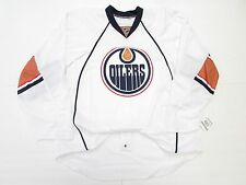 EDMONTON OILERS AUTHENTIC WHITE TEAM ISSUED REEBOK EDGE 2.0 7287 JERSEY SIZE 58+