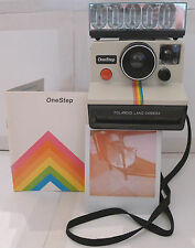 Polaroid SX-70 Rainbow OneStep Instant Film Camera + Manual & Flashbar - TESTED