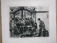 "Kathe Kollwitz Etching""Der Sturm"" (The Riot) on Cream Wove Paper - Klipstien 33"