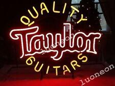 Rare A Quality Guitars Taylor Beer Bar Pub Real Glass Neon Light Sign FREE SHIP