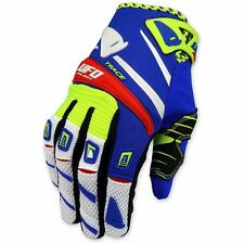 UFO 2017 MX Enduro BMX Trace Gloves - Blue and Flo Yellow - Medium