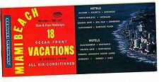American Express Miami Beach Winter 1966-67 Ocean-Front Vacations Booklet