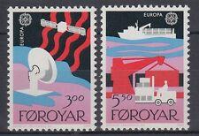 Färöer 1988 ** Mi.166/67 Transportmittel | Cars | Ships | Hafen Harbour