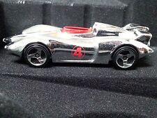 Hot Wheels RARE Speed Racer Chrome Mach 4 Car