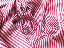 """RED & SILVER STRIPES 100% PURE SILK HI QUALITY FABRIC! 40""""W  SOLD BY YARD"""
