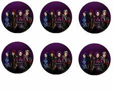Descendants Edible Party Image Cupcake Topper Frosting Icing Sheet Circles