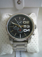 DIESEL WATCH DOUBLE DOWN 51 DZ 4209 STAINLESS STEEL CHRONOGRAPH BNIB