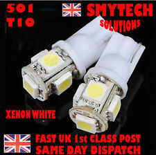 501 Xenon-White 5 LED Car Sidelight Ultra Bright X2 T10 FORD FIESTA MK 6