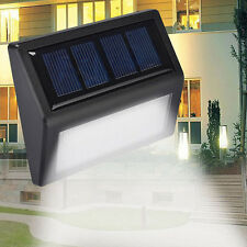 6 LED Solar Power Light Sensor Wall Light Outdoor Waterproof Garden Lamp
