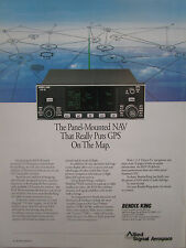 9/1992 PUB ALLIED SIGNAL AEROSPACE BENDIX KING KLN 90 GPS NAVIGATION SYSTEM AD
