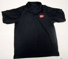 PORT AUTHORITY Polyester POLO GOLF CASUAL SHIRT  L Gray Dr. Pepper
