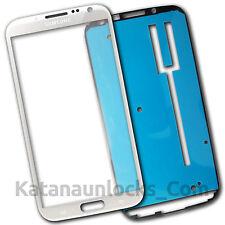 Bildschirm Glas für Samsung Galaxy Note 2 N7100 Weiß Mit Klebe