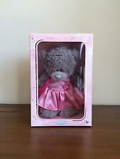 "Me To You Boxed Tatty Teddy Grey Bear 7"" Standing Pink Dress Mothers Day Gift"
