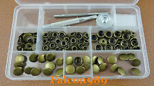 30 Sets 12.5mm Antique Brass Snap Fasteners Press Stud Button Leather Tool Kit