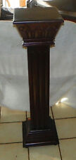 Mahogany Carved Pedestal Plant Stand  (PS88)
