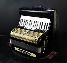 VINTAGE TOP GERMAN PIANO ACCORDION ORIGINAL WELTMEISTER 48 bass,5 sw.+NEW STRAPS