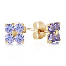 1.15 Carat 14K Solid Gold Stud Earrings Natural Tanzanite