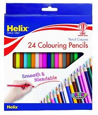 Helix 24 Colouring Pencils Pencil Crayons Blendable Stationery School Office Art