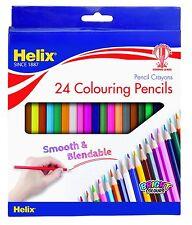 Helix 24 lápices de colores lápiz Crayones Combinable Papelería Oficina de la escuela de arte