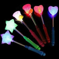 LED Flashing light up stick Multi Color Glow Rose Wand Party Concert Favor 5 pcs