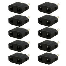 10PCS US/AU to EU Travel Converter AC Power Plug Power Charger Adapter Black HOT