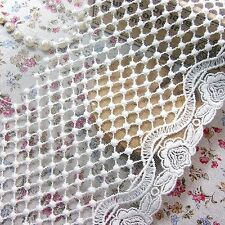 Vintage Style Embriedered Tulle Lace Trim  Fabric Beautiful Flower 15cm Wide 1yd