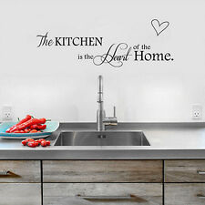 New Removable Wall Art DIY Decal Sticker PVC Quote Kitchen+Home Mural Decor Hot