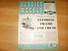 June 1956, HOBBIES WEEKLY, Climbing Frame & Slide, Rowing Machine, Scent Casket.