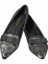 MAISON SCOTCH AW15/16 SLIP ON FLAT LOAFER SHOES SILVER GREY 37,39,41 £99