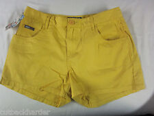 ROXY Ladies Girls Shorts Pixie 5 Pocket Deep Yellow Gold SIZE 9 BRAND NEW