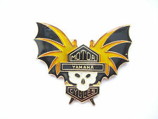 SALE RARE VINTAGE YAMAHA BAT SKULL BIKER GANG MOTORCYCLES MOTOR BIKE PIN BADGE