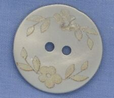 18mm Silver / Mother of Pearl 2 Hole Button