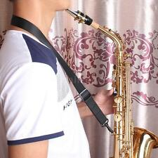 Andoer Adjustable Saxophone Clarinet Neck Strap + Hook Clasp Black New RW2W