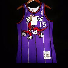100% Authentic Vince Carter Mitchell Ness Raptors away Jersey Size 36 S