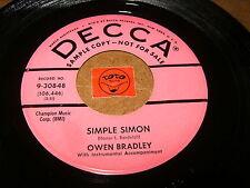 OWEN BRADLEY - SIMPLE SIMON - LITTLE BEAVER  / LISTEN - POPCORN ROCK N ROLL