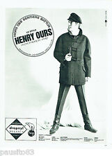 PUBLICITE ADVERTISING 036  1965  Henry Ours vetements de ski fuseaux  homme