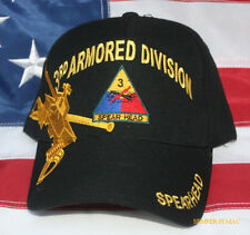 3RD THIRD Armored Division SPEAR HEAD CAP BALLCAP Hat US ARMY WOWAH PIN UP GIFT