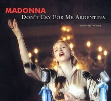 Madonna Don't Cry For Me Argentina 6 Tracks. Ex Cond  CD
