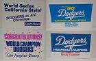 VINTAGE LOS ANGELES DODGERS 1988 WORLD SERIES CHAMPIONS NEWS SIGNS LA TIMES RARE