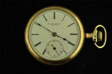 VINTAGE 18SROCKFORD TRANSITIONAL SIDEWINDER POCKET WATCH FROM 1881 KEEPS TIME