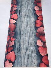 Tappeto VEDI FOTO a metraggio PVC largo 55 grigio silver rosso cuori …