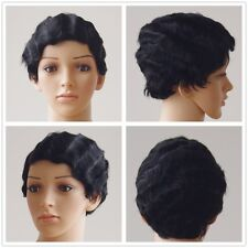 100% Remy Human Hair Full Wig Fashion Short Finger Wave Women Ladies Wigs Light