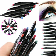 12pcs Waterproof Eyeliner Smooth Cosmetic Beauty Makeup Mac Eyeliner Pencil Set