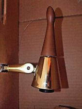 NOS Danish Modern TENSION POLE LAMP, 3 Frosted Globes Mid Century Vintage CLOVER