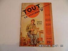 SYSTEME D N°55 07/1950 CANNER UN SIEGE CONSTRUIRE UN AUVENT CANOT UNIVERSEL  D38